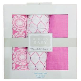 Hộp 3 khăn sợi tre đa năng Hudson baby 120x120cm
