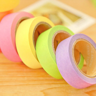 10x Rainbow Washi Sticky Paper Masking Adhesive Decorative Tape Scrapbookin