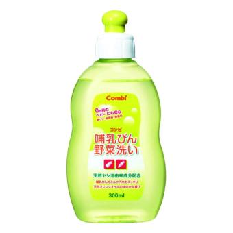 Chai dung dịch rửa bình sữa và rau quả từ dầu cọ Combi 112578 300ml (Xanh)