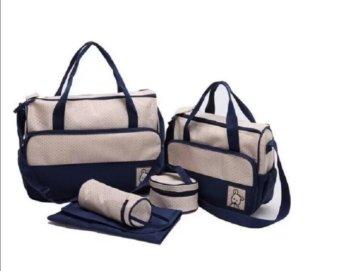 Túi đựng đồ cho mẹ và bé 5 chi tiết HD HDM267 (Xanh tím than)