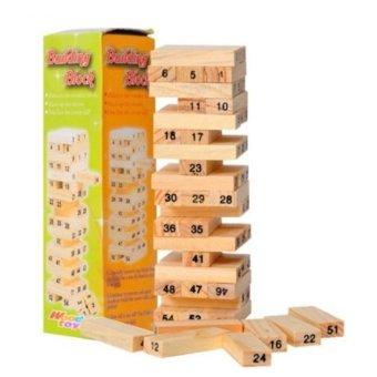 Đồ chơi rút gỗ 54 thanh BSM004 (Nâu gỗ)