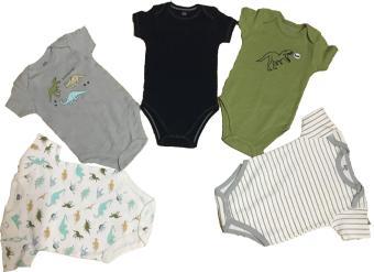 Combo 2 áo liền quần (body suite Baby Gear) cho bé trai từ 3-6 tháng (mầu sắc bất kì)