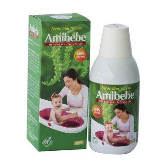 Nước tắm trị rôm sẩy Babyhoouse Amibebe 250ml