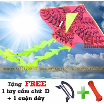 Diều Việt Nam : Đại Bàng Đen 01 - 2 Đuôi + Tặng FREE tay cầm và cuộn dây