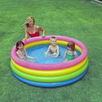 Bể bơi phao hình tròn 4 tầng