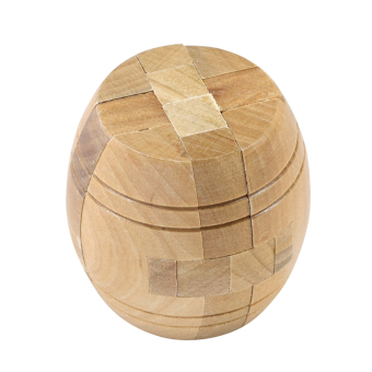 Kong Ming Luban Lock Kids Adult Wooden Puzzle Brain Tease Toy (Barrel) - intl