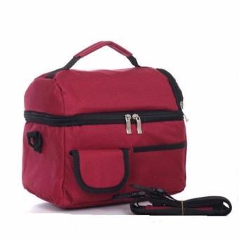 Túi giữ nhiệt cao cấp 2 ngăn (Đỏ rượu vang)