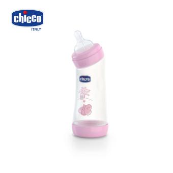 Bình sữa cổ nghiêng núm silicon sóc hồng 250ml