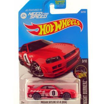 Xe mô hình tỉ lệ 1:64 Hot Wheels 2016 Nissan Skyline GT-R (R34) - Đỏ