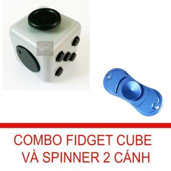 Combo Fidget Cube và con quay 2 cánh