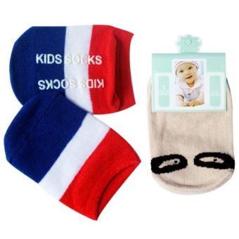 Bộ 3 đôi Tất Kiddy Socks cho bé từ 0 - 24 tháng tuổi