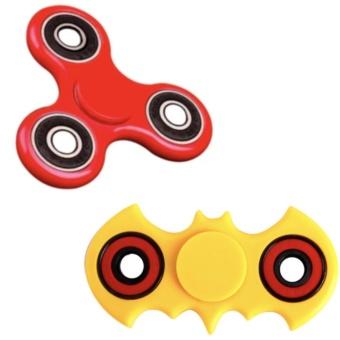 COMBO 2 Đồ Chơi Con Quay Giúp Xả Stress Fidget Spinner (Vàng,Đỏ)
