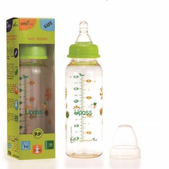 Bình sữa cổ thường P.E.S 240ml : UP02801CL