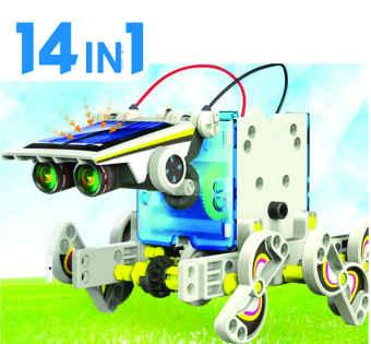 Bộ ghép hình solar robot năng lượng mặt trời 14 trong 1
