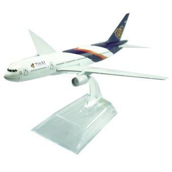 Mô hình máy bay V&G THAI AIRWAYS EVERFLY 16cm (Trắng)