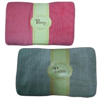 Bộ 2 khăn tắm đại sọc gân Poemy 73x136cm