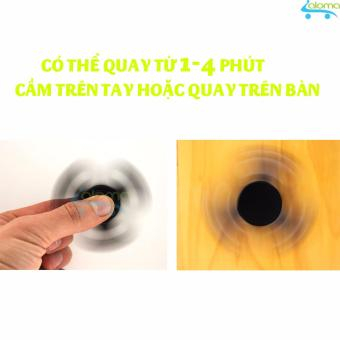 Con quay thư giãn giảm stress bằng kim loại Hand Fidget Spinner (Đen)