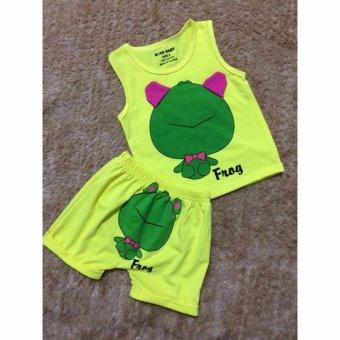 Quần áo trẻ em mùa hè in hình con ếch BTE023 (Màu vàng)