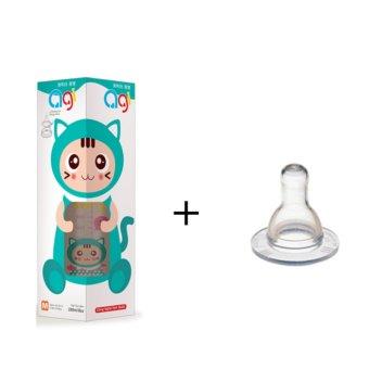 Bộ Bình Sữa Agi 250ml + 1 Ty Agi Cùng Size