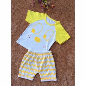 Bộ quần áo trẻ em in hình dễ thương BTE011 (Màu vàng)