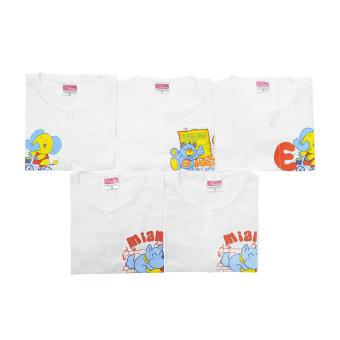 Bộ 5 áo cài giữa tay dài trắng Nanio AD083
