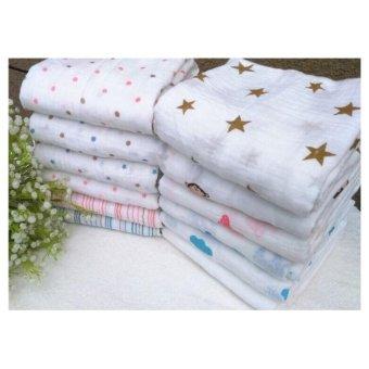 Bộ 2 khăn tắm sợi tre đa năng A&A cho bé gái