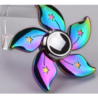 Con quay sắc màu 5 cánh hoa