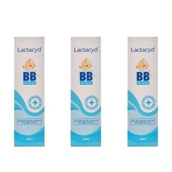 Bộ 3 Sữa tắm Lactacyd BB chống rôm sảy 250ml