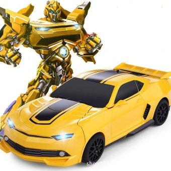 Robot biến hình Transformer điều khiển từ xa New (Vàng)