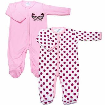 Bộ 2 bodysuits liền tất bé gái Baby Gear (Màu sắc ngẫu nhiên)