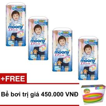 Bộ 4 tã quần Moony XL38 (Boy) + Tặng 1 bể bơi trị giá 450.000 VND