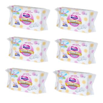 Bộ 6 gói khăn giấy ướt Merries x 54 miếng