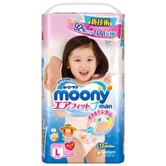 Tã quần Moony L 44 (Girl)