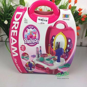 Bộ đồ chơi trang điểm cho bé gái( Màu Hồng)