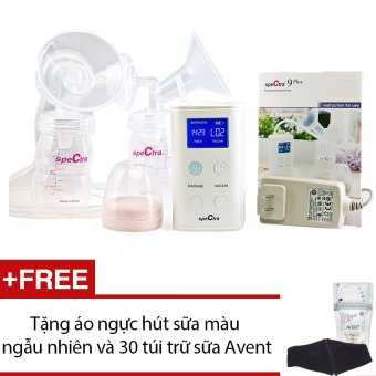 Máy hút sữa đôi Spectra 9 Plus + Tặng 1 áo ngực hút sữa và 30 túi trữ sữa Avent