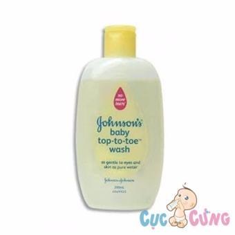 Sữa tắm gội toàn thân Johnson Baby 200ml Top To Toe