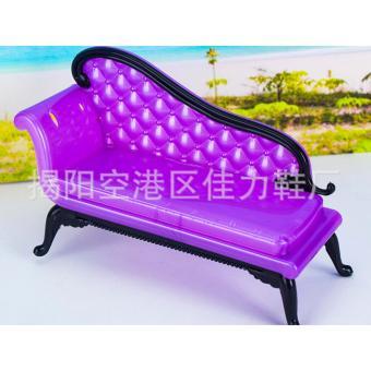 ghế nhựa màu tím cho búp bê