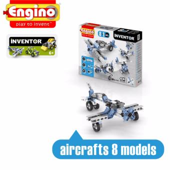 Bộ đồ chơi Lắp ráp Engino Tàu bay Inventor 8 trong 1 (6-14+ tuổi) Không dùng pin 0833 - Hãng phân phối chính thức