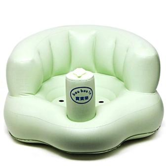 Ghế hơi tập ngồi bơm tay tiện dụng cho bé (Xanh)
