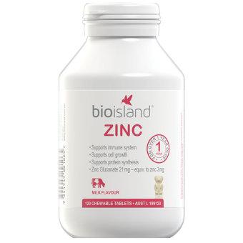 Kẹo gấu vị sữa kẽm cho Bio Island Zinc 120 viên
