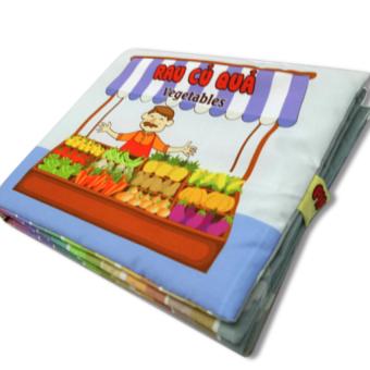 Sách vải cho bé chơi mà học Pipo - Rau củ quả