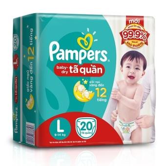 Tã quần nhí Pampers L20