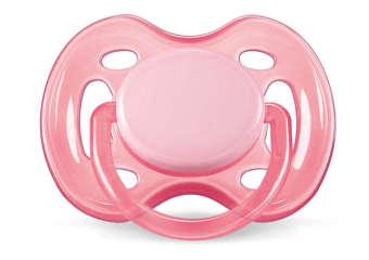Ty ngậm Silicone cho bé từ 0-6 tháng tuổi (Hồng)