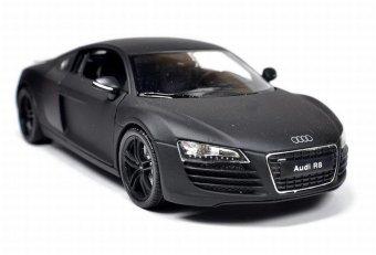 Mô Hình Sắt 1/24 Siêu Xe Audi R8 Fx -WELLY (Đen nhám).