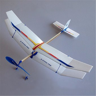 Rubber Band Elastic Powered Flying Glider Plane Airplane DIY Toy For Kids Fun - intl