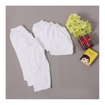 Bộ 5 quần Cotton dài trắng trơn 1-3 tuổi (White 1-2 tuổi)