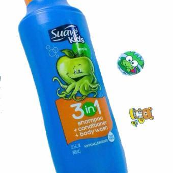 Sữa Tắm, Gội và Xả cho Bé Suave Kid 3in1 Hương Táo