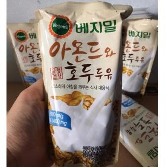 Bộ 10 Gói Sữa Hạnh Nhân Óc Chó Hàn Quốc Vegemil 190Ml(1-2 Lít)