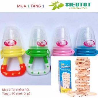 Túi nhai ăn dặm chống hóc GB Baby (Korea) cho bé yêu (tặng bộ rút gỗ đồ chơi cho bé lớn)