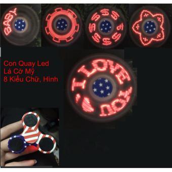 Con Quay Giảm Stress Hand Spinner đèn led 7 màu (đen)